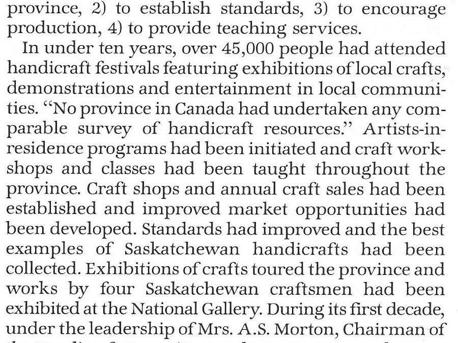 The Craft Factor – Saskatchewan Arts Board Part 1