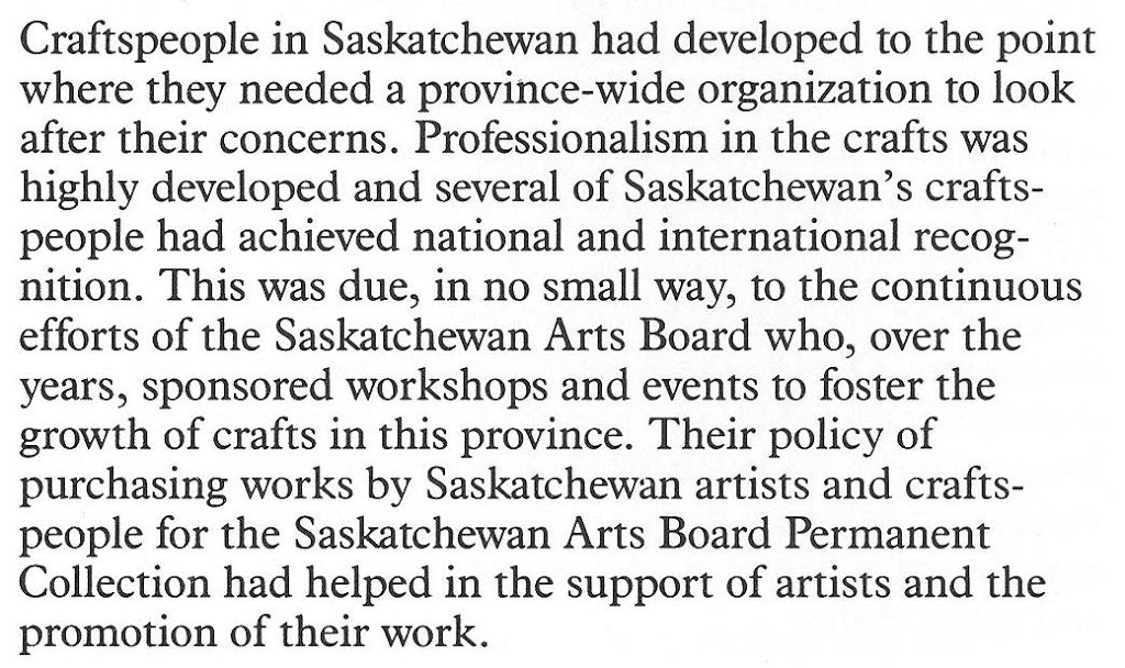 The Craft Factor – Saskatchewan Arts Board Part 3