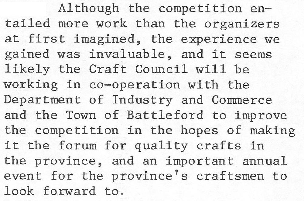 The Craft Factor – The Saskatchewan Handcraft Festival in the mid to late 70's