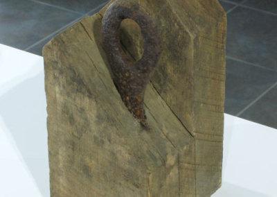 Nothing is Something: Lizton (Myra Risley Perrin), 2014: Found wood and metal scraps. $550
