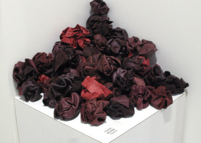 Sanguine (Laura Hale), 2014: Upholstery leather samples; water hardened leather. NFS