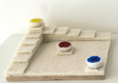 1/2 of Nothing is Still Nothing II (June J. Jacobs), 2014: Wool, wood, adhesive; handfelted. $120