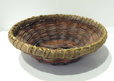 A Basket Need Hold Nothing But Your Attention (Joan Carrigan), 2014: Willow bark; twining and plaiting. $250