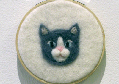 Nothing But Cats (Grey) (Stephanie Canning), 2014: Wool; needle felting. $50