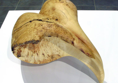 Untitled (Jamie Russell), 2014: Manitoba Maple burl; power and hand shaping. $700