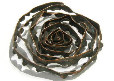 ? (Greg Wilbur), 2014: Copper; coiled, hammered, cut. $100