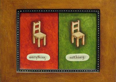 Everything: Nothing (Fabiane Garcia), 2006: Acrylic on wood. NFS