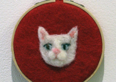 Nothing But Cats (Red) (Stephanie Canning), 2014: Wool; needle felting. $50