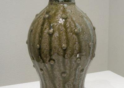 Gravemarker (Bryce Brisco), 2014: Wild Tennessee clay, traditional alkaline glaze, wood/salt fired; wheel thrown stoneware. $125