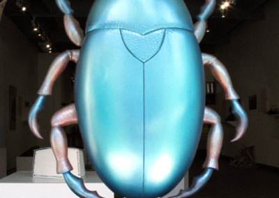 Insectum Nihilum (Arthur Perlett), 2013: Wood, paint; carved. NFS