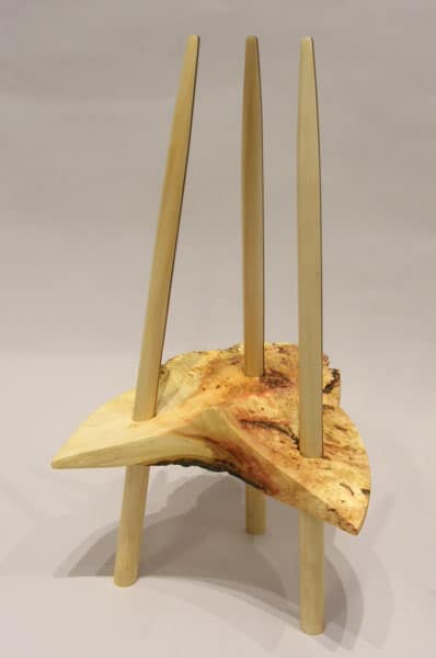 Failed Stool (Rossel Bérard), 2014: Manitoba Maple, walnut, pine. $550