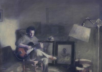"Richard Popov ""Portrait"" 1993. Cibachrome/pastel. Not For Sale."