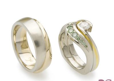 """""""Wedding Set"""" Rings; 2014"""