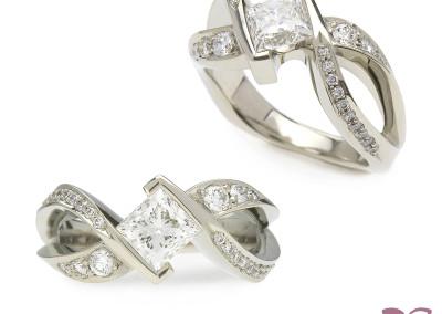 """""""Infinite"""" Diamond Engagement Ring; 2014"""