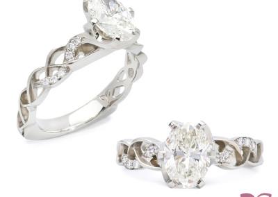 """Entwine"" Diamond Engagement Ring; 2015"