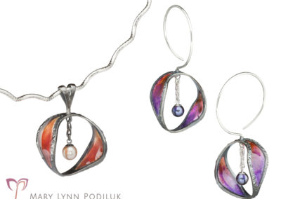 Continuant Earrings and Pendant