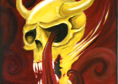Shinaid McGillivray, Blind Witness: Acrylic paints; painting. 2013, $80.