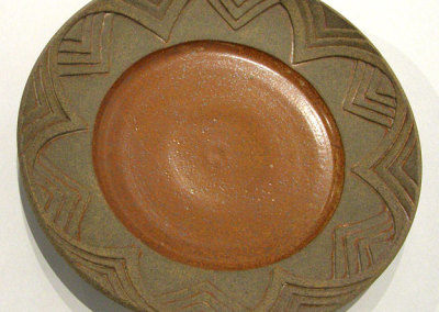 Gail Carlson, Platter: ∆10 Clay; reduction fired. 2012, $225.
