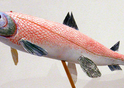 Joe Fafard, Lumsden, SK - Red Herring, 2012. Wood, styrofoam, $400
