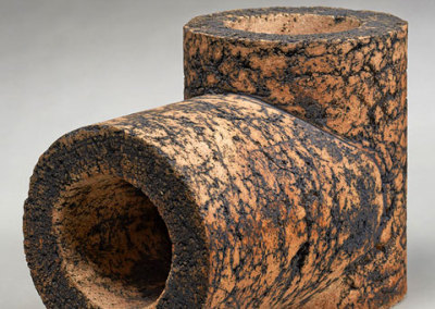 Zane Wilcox: Junction, 2012. Stoneware sculpture - stoneware, clay, $700.
