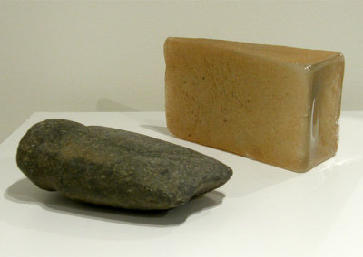 Hosaluk: Stone Wedge - Stone. NFS. Susan Rankin: Glass Wedge - 2013, Glass. $400