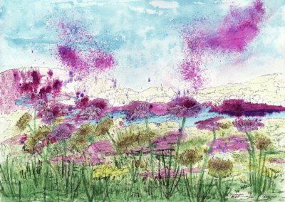 Ethereal: Sharon Eisbrenner, Watercolour and Ink on Arches cold press Watercolour Paper