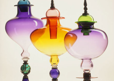 Lidded Luminary Series, 2007 - Tyler Rock - Blown Glass, $2,500