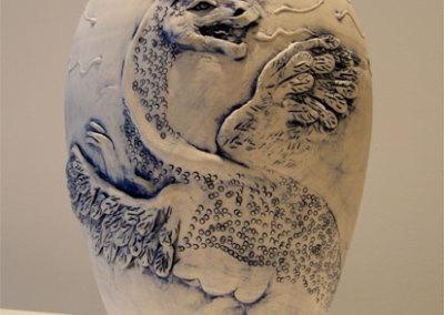 Blue Dragon Vase - Wendy Parsons & Zach Dietrich