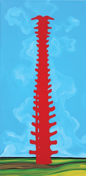 Stairway to Heaven (Michel Boutin) 2012: Enamel on canvas. Collection of The Mann Art Gallery.