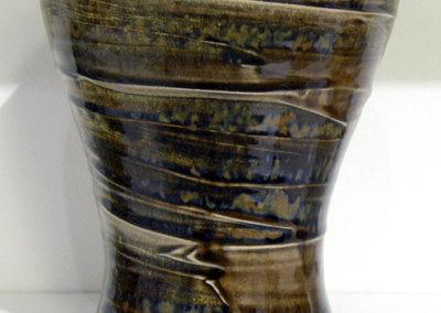Bonnie Gilmour, Vase: Stoneware, texture slip, glaze; wheel thrown. 2012, $200.