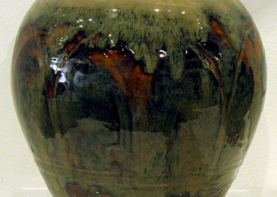 Ron Froese, Stoneware Vase: Stoneware clay; sgraffito thru illmenite slip, oxidation fired. 2012, $140.