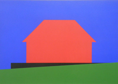 Hosaluk: Stonehouse with Wedge - 2013, Wood, acrylic. $1,200