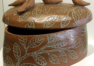 Eleanor Fernandez, Niche: Stoneware, terra sigillata, glazes; wheel thrown & altered, hand built. 2013, $800.