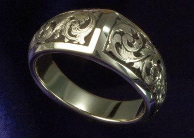 14K Scroll Ring