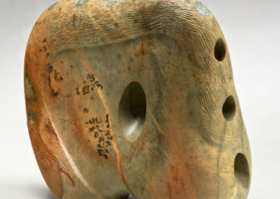 Leslie Potter: Looking for Infinity: Indivisible, 2013. Soapstone sculpture, $1,100.
