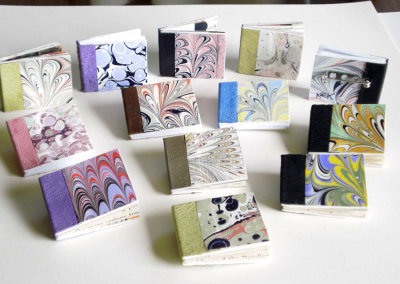 Hand Marbled Book Brooches