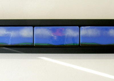 Horizon Line (Doris Grant), 2012: Fused glass. $425