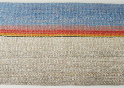 Shelley E. Hamilton, Stonebridge Sunset: Wool, linen; hand woven. 2013, $1,000.