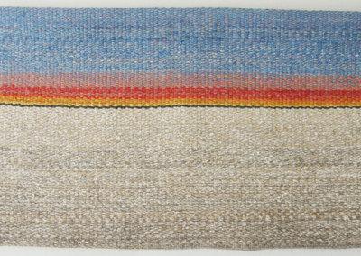 Shelley E. Hamilton, Stonebridge Sunset: Wool, linen; hand woven. 2013, $1,000.