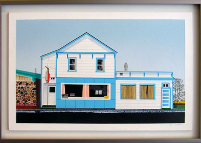 Blue Belle Café by David Thauberger, Collection of Colleen and Allan Bailey