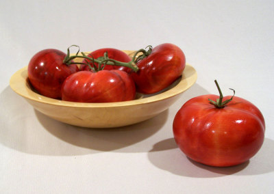 Tomatoes in a Maple Bowl