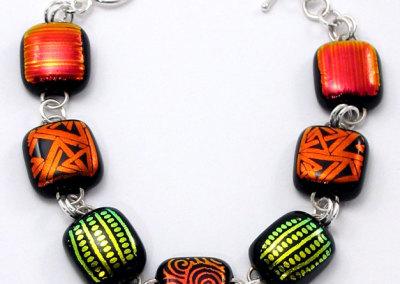 Titan Dichroic Glass Bracelet