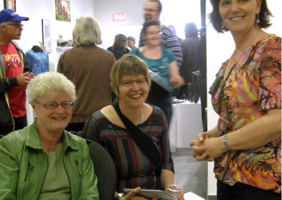 SCC Board Members: Joan Hiebert and Cindy Hanson; and SCC Executive Director, Sherry Luther.