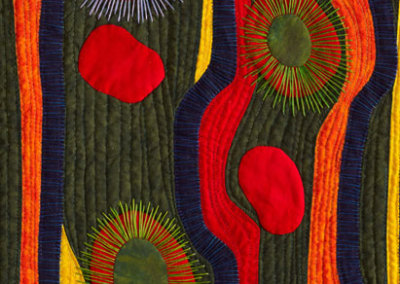 Anna Hergert, Joie de Vivre, 2010 - hand-dyed & commercial cottons, threads; machine piecing & quilting, hand-appliquéd & embellished