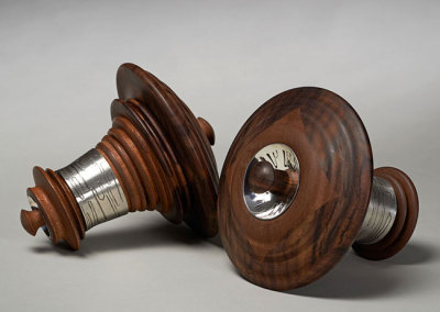 MaryLynn Podiluk: Soundscape, 2011. Salt & pepper grinder set, $2,300.