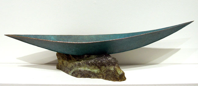 Adrift (Daryl Richardson), 2013: Copper, soapstone, patina, wax. $3,500