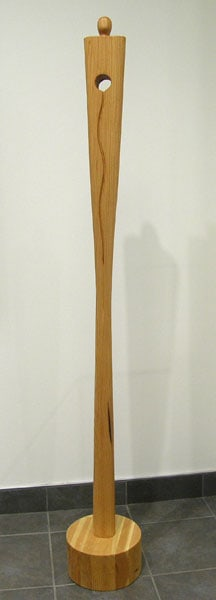 Wood Figure (Paul Lapointe), 2012: Reclaimed 300 year old Fir, linseed oil; Carved. $2,500