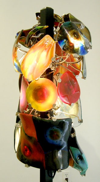 Taylor (Robert Miller), 2012: Glass pot melts, metal, wood. $4,800
