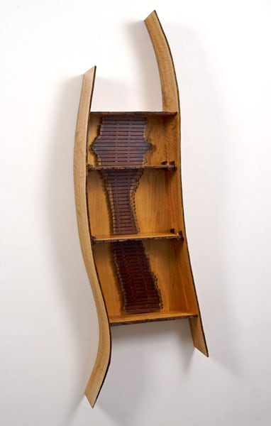 Robert Holowaty, Untitled, 2011 - Curly Maple, Cocobolo; bent lamination, hand rub oil finish
