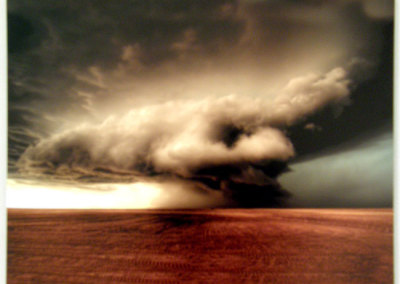 Prairie Storm: Craig Hilts, 2011 - Dye, aluminum metal; Photographic print. $175